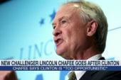 Lincoln Chafee attacks Hillary Clinton