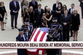 Hundreds mourn Beau Biden at memorial service