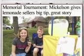 Pro golfer gives enterprising kids a huge tip
