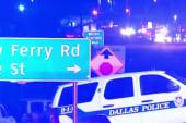 Gunfire targets Dallas police headquarters