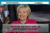Hillary Clinton embracing Democratic legacy