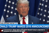 Trump makes 2016 announcement