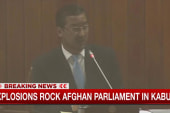Explosions rock parliament meeting on live TV