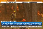 Calif. wildfires threaten hundreds of homes