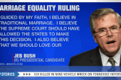 Jeb weighs in: 'I believe in traditional...