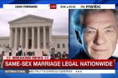 Actor Ian Mckellen comments on same-sex...