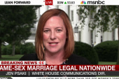Psaki: Ruling a 'big win' for LGBT couples