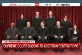 Supreme Court blocks TX abortion restrictions