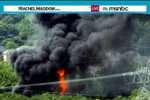 Toxic train fire forces thousands to evacuate