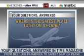 Where is the safest seat on a plane?