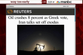 Oil prices tumble nearly eight percent