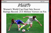 Sunday women's final breaks TV record