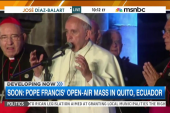 Pope Francis conducts mass in Ecuador