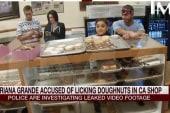 Pop sensation accused of licking doughnuts