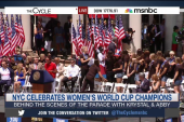 USWNT makes history with ticker-tape parade