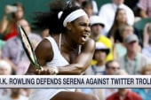 Rowling defends Serena against Twitter troll