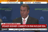 Boehner: Iran deal is 'unacceptable'