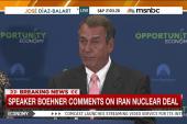 Boehner: Iran deal is 'unacceptable'