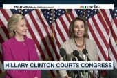 Hillary Clinton courts Congress