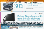 Amazon, Walmart compete in online deal day