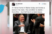 George Bush fractures neck in fall