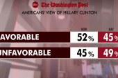 Clinton's favorability on the rise