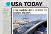 Uber races past taxis among biz travelers