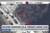 Wildfire ignites on Cajon Pass freeway