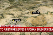 NATO airstrike kills eight Afghan soldiers