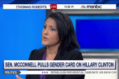 McConnell pulls gender card on Clinton