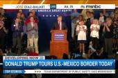 Donald Trump tours US-Mexico border