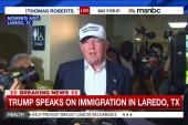 Trump arrives wearing baseball cap in Laredo