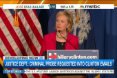 Criminal probe requested into Clinton emails