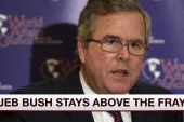 Jeb plays long game, stays above the fray