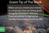 Green tip: Invest in SRIs