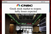 Greece's stock market reopens Monday