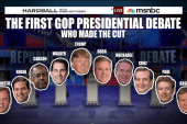 Who made the cut for the 1st GOP debate?