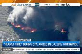 Massive Calif. fire behaving 'erratically'