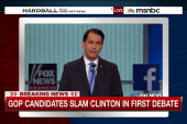 Clinton-bashing popular at GOP debate