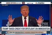 Trump takes credit for immigration debate