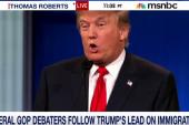 Several GOP debaters follow Trump's lead...