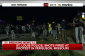 Police: Shots fired at protest in Feguson
