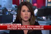 Video of shots fired in crowd in Ferguson