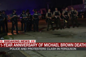 Police shooting on Michael Brown anniversary