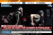Gunfire mars peaceful protests in Ferguson