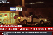Violence erupts in Ferguson one year later