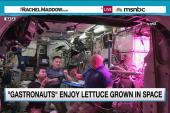 Astronauts try first-ever food grown in space