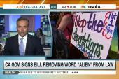 Bill removes 'alien' to describe immigrants