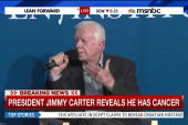 Former President Carter reveals he has cancer