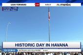 U.S. flag flies over embassy in Cuba